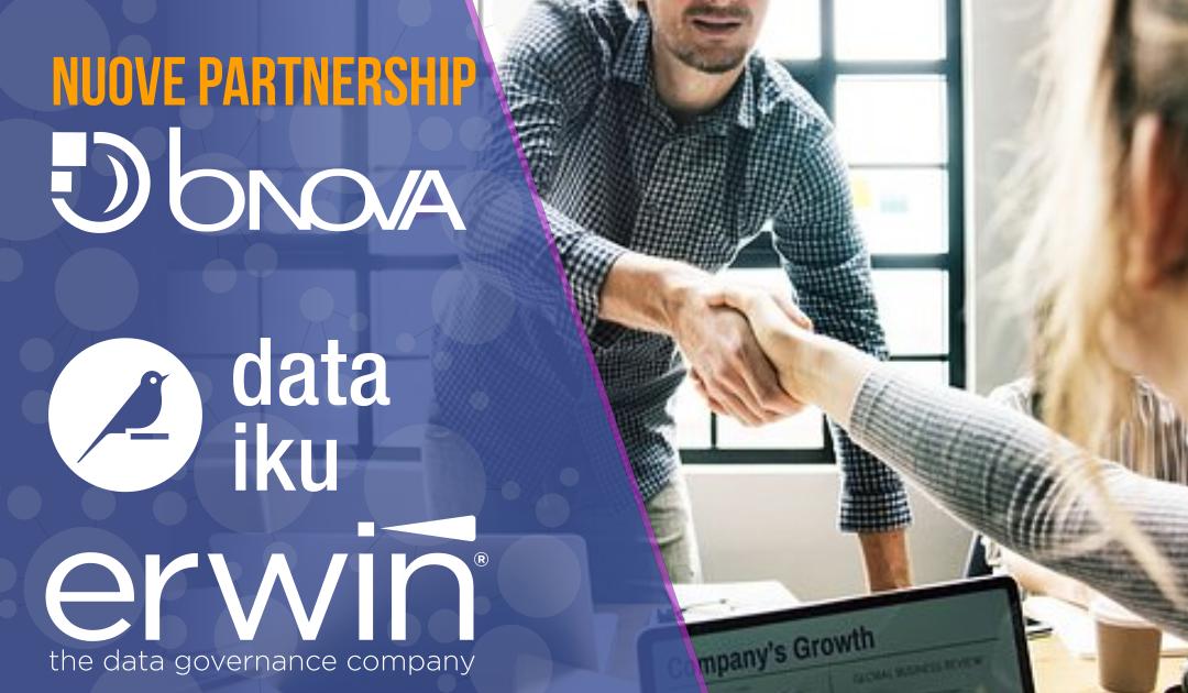 BNova e le nuove partnership in ottica Data Driven:  ERWIN per la Data Governance e DATAIKU, piattaforma per data scientist