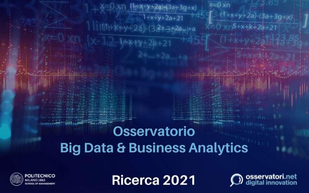 BNova e Politecnico di Milano, la collaborazione per la Ricerca 2021 dell'Osservatorio Big Data & Business Analytics